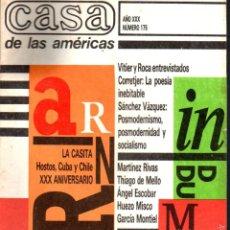 Libros de segunda mano: REVISTA CASA DE LAS AMÉRICAS Nº 175 - JULIO AGOSTO 1989 . Lote 58595758