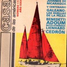 Libros de segunda mano: REVISTA CASA DE LAS AMÉRICAS Nº 174 - MAYO JUNIO 1989 . Lote 58595770