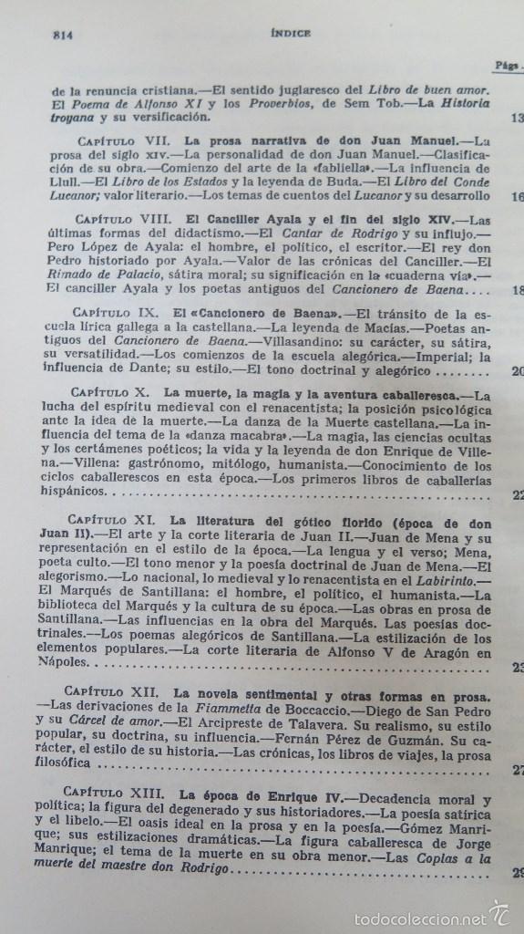 Libros de segunda mano: HISTORIA DE LA LITERATURA ESPAÑOLA. ANGEL VALBUENA PRAT. ED. GUSTAVO GILI. 2 TOMOS - Foto 3 - 59071305