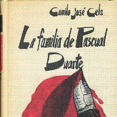 Libros de segunda mano: CAMILO JOSÉ CELA LA FAMILIA DE PASCUAL DUARTE CÍRCULO DE LECTORES 1972 NOV FUNDADORA DEL TREMENDISMO. Lote 59244915