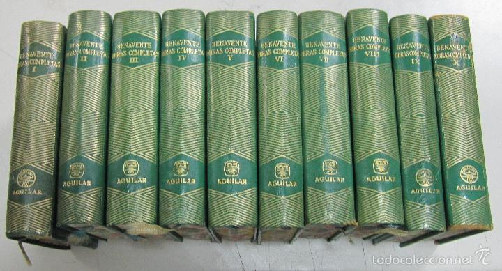 OBRAS COMPLETAS DE JACINTO BENAVENTE. 10 TOMOS DE 11. PIEL. EDITORIAL AGUILAR, MADRID. 1956 (Libros de Segunda Mano (posteriores a 1936) - Literatura - Otros)