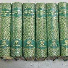 Libros de segunda mano: OBRAS COMPLETAS DE JACINTO BENAVENTE. 10 TOMOS DE 11. PIEL. EDITORIAL AGUILAR, MADRID. 1956. Lote 206582422