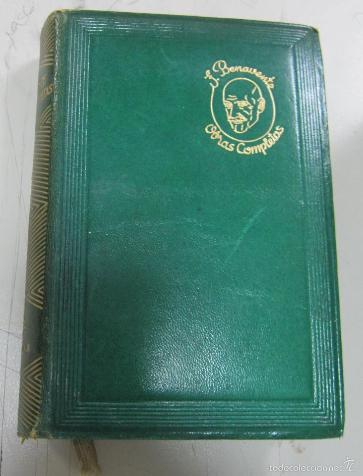 Libros de segunda mano: OBRAS COMPLETAS DE JACINTO BENAVENTE. 10 TOMOS DE 11. PIEL. EDITORIAL AGUILAR, MADRID. 1956 - Foto 2 - 161619054