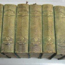 Libros de segunda mano: OBRAS COMPLETAS DE JACINTO BENAVENTE. 9 TOMOS DE 11. PIEL. EDITORIAL AGUILAR, MADRID. 1941 - 1951. Lote 59805960