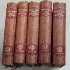 Libros de segunda mano: OBRAS COMPLETAS DE FERNANDEZ FLOREZ. 5 TOMOS. PIEL. EDITORIAL AGUILAR, MADRID. 1954 - 1956. Lote 59806440
