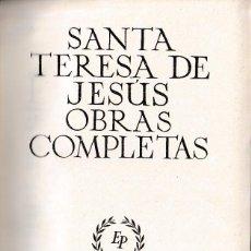 Libros de segunda mano: OBRAS COMPLETAS DE STA. TERESA DE JESÚS (ED. PLENITUD 1948) SIN USAR.. Lote 200559572