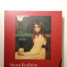 Libros de segunda mano: STORA KVALITÉN 14-15 MAJ 1997. STOCKHOLMS AUKTIONSVERK. CATÁLOGO DE SUBASTA DE ARTE. Lote 59941139