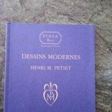 Libros de segunda mano: CATÁLOGO DE SUBASTA. DESSINS MODERNES HENRI M. PETIET. JEUDI 15 JUIN 2000. Lote 60170083