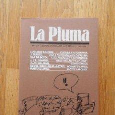 Libros de segunda mano: LA PLUMA, REVISTA CULTURAL 2 EPOCA NUMERO 2. Lote 60762955