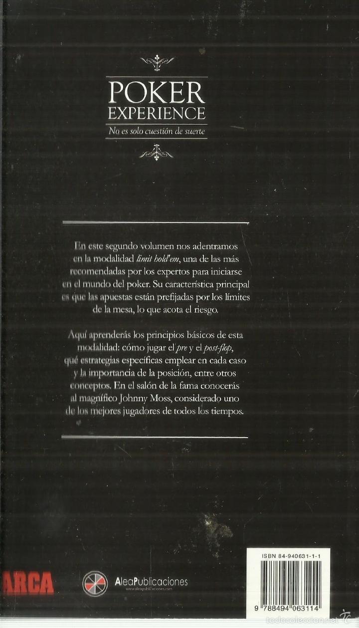 Libros de segunda mano: POKER EXPERENCE. LIMIT HOLDEN. MARCA. MADRID. 2012 - Foto 2 - 61060999