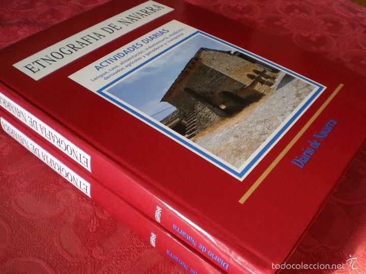 ETNOGRAFÍA DE NAVARRA. 2 TOMOS LUIS AZPILICUETA. JOSÉ MªDOMENCH. JORGE NAGORE. DIARIO DE NAVARRA (Libros de Segunda Mano - Ciencias, Manuales y Oficios - Otros)
