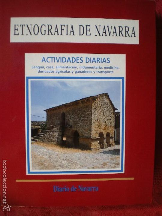 Libros de segunda mano: ETNOGRAFÍA DE NAVARRA. 2 TOMOS LUIS AZPILICUETA. JOSÉ MªDOMENCH. JORGE NAGORE. DIARIO DE NAVARRA - Foto 2 - 61176415