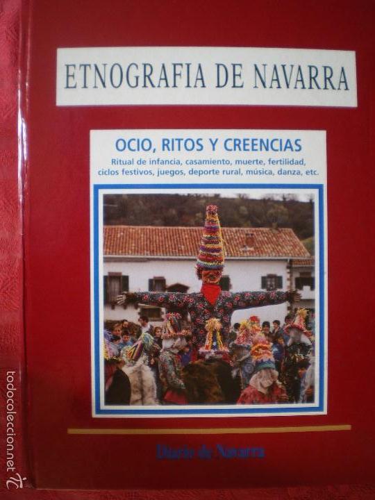 Libros de segunda mano: ETNOGRAFÍA DE NAVARRA. 2 TOMOS LUIS AZPILICUETA. JOSÉ MªDOMENCH. JORGE NAGORE. DIARIO DE NAVARRA - Foto 3 - 61176415