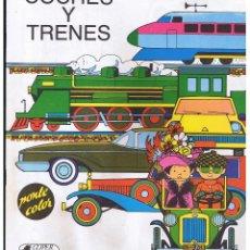 Libros de segunda mano - PONLE COLOR - COCHES Y TRENES - 1983 ARTÍCULO NUEVO - PLAZA & JANES. - 61497767