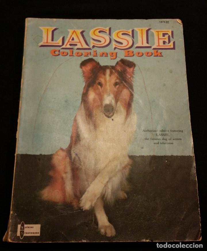 lassie coloring book. libro para colorear. ee.u - Comprar en ...