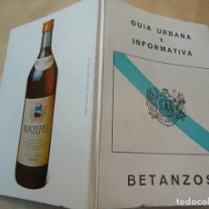 Libros de segunda mano: GUÍA URBANA E INFORMATIVA BETANZOS 1980 CON FOTOS Y PLANO. Lote 61629212