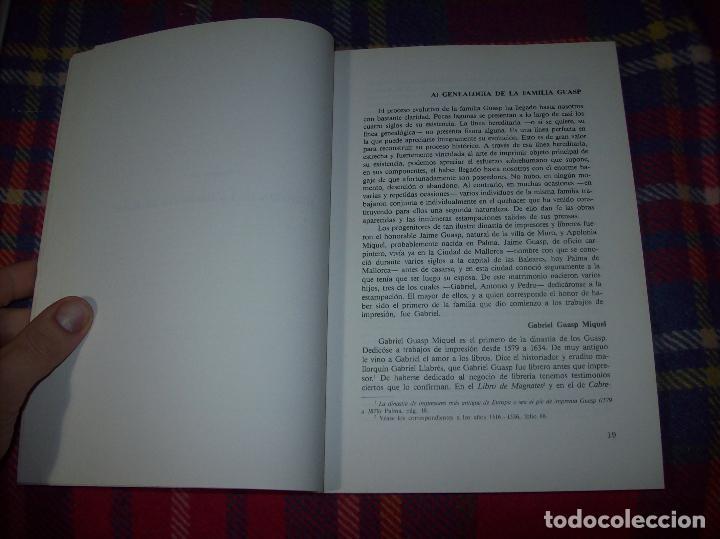 Libros de segunda mano: LA IMPRENTA Y LAS XILOGRAFÍAS DE LOS GUASP. GASPAR SABATER. ESTUDIS BALEÀRICS.1985. MALLORCA - Foto 4 - 61695872
