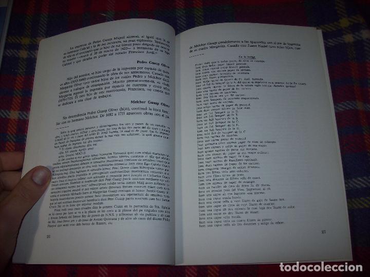 Libros de segunda mano: LA IMPRENTA Y LAS XILOGRAFÍAS DE LOS GUASP. GASPAR SABATER. ESTUDIS BALEÀRICS.1985. MALLORCA - Foto 5 - 61695872