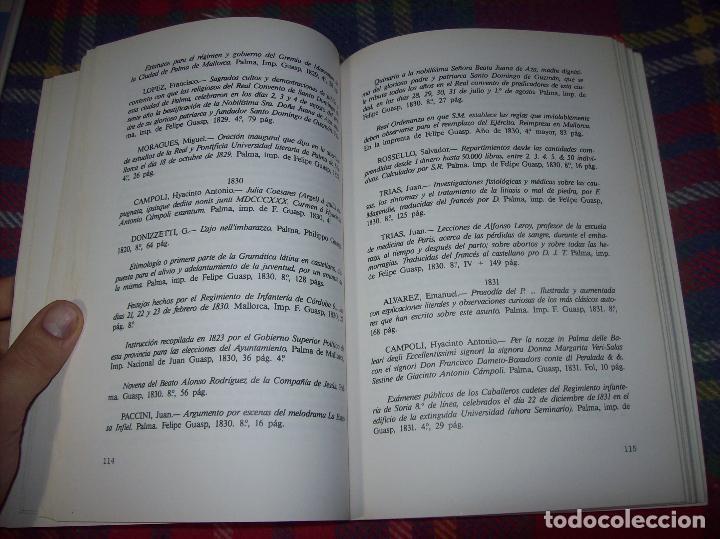 Libros de segunda mano: LA IMPRENTA Y LAS XILOGRAFÍAS DE LOS GUASP. GASPAR SABATER. ESTUDIS BALEÀRICS.1985. MALLORCA - Foto 7 - 61695872