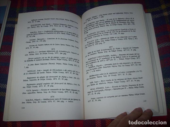 Libros de segunda mano: LA IMPRENTA Y LAS XILOGRAFÍAS DE LOS GUASP. GASPAR SABATER. ESTUDIS BALEÀRICS.1985. MALLORCA - Foto 8 - 61695872