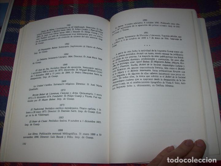 Libros de segunda mano: LA IMPRENTA Y LAS XILOGRAFÍAS DE LOS GUASP. GASPAR SABATER. ESTUDIS BALEÀRICS.1985. MALLORCA - Foto 9 - 61695872