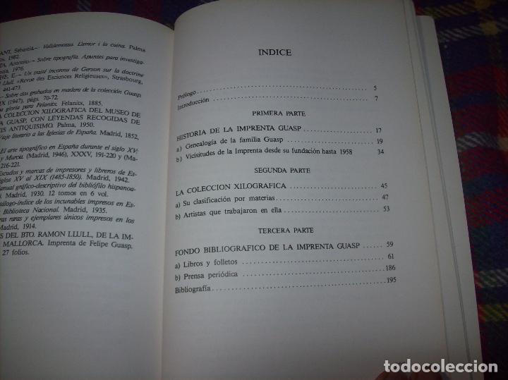 Libros de segunda mano: LA IMPRENTA Y LAS XILOGRAFÍAS DE LOS GUASP. GASPAR SABATER. ESTUDIS BALEÀRICS.1985. MALLORCA - Foto 10 - 61695872