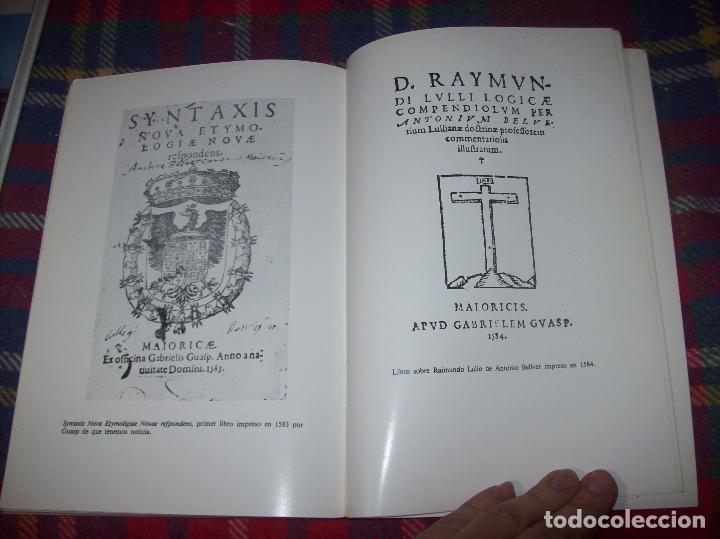 Libros de segunda mano: LA IMPRENTA Y LAS XILOGRAFÍAS DE LOS GUASP. GASPAR SABATER. ESTUDIS BALEÀRICS.1985. MALLORCA - Foto 16 - 61695872