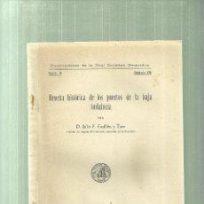 Libros de segunda mano: 1581.- RESEÑA HISTORICA DE LOS PUERTOS DE LA BAJA ANDALUCIA-JULIO F.GUILLEN Y TATO. Lote 61751072