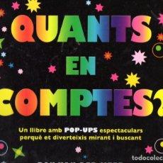 Libros de segunda mano: POP UP : RON VAN DER MEER - QUANTS EN COMPTES? (MACMILLAN, 2009) EN CATALÁN. Lote 61834064