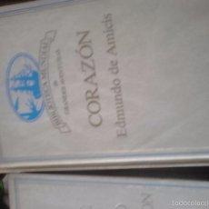 Libros de segunda mano: CORAZÓN. EDMUNDO D'AMICIS. Lote 61869232