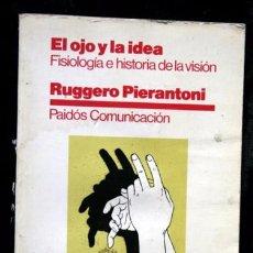 Libros de segunda mano: EL OJO Y LA IDEA - FISIOLOGÍA E HISTORIA DE LA VISIÓN - RUGGERO PIERANTONI. Lote 61951636