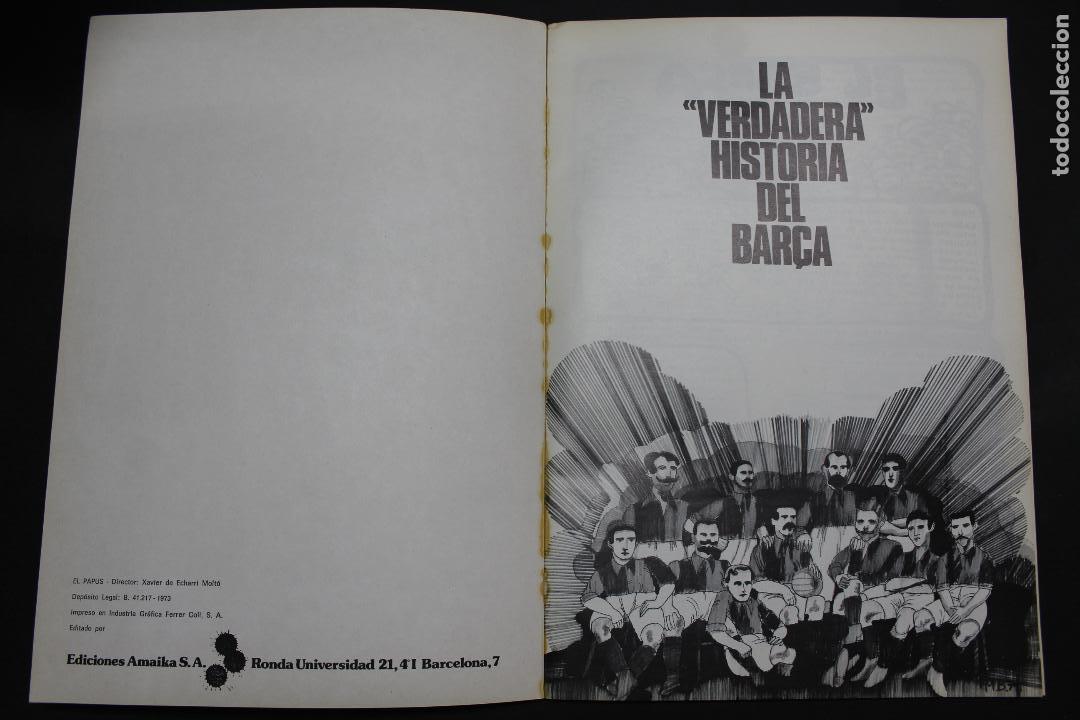 Libros de segunda mano: L- 3983. LA VERDADERA HISTORIA DEL BARÇA. 1973. - Foto 2 - 61984844