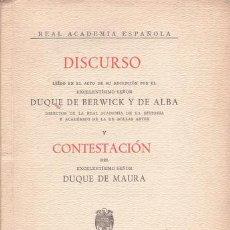 Libros de segunda mano: BERWICK Y DE ALBA, DUQUE DE: LOS MECENAZGOS ILUSTRES. Lote 43389708
