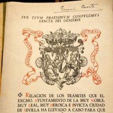 Libros de segunda mano: SEVILLA, CIUDAD MARIANA, RELACION DE TRAMITES, 1946, LEER DESCRIPCION. Lote 62005572