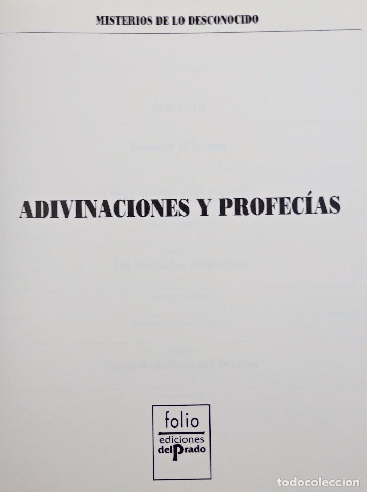 Libros de segunda mano: ADIVINACIONES Y PROFECIAS. MISTERIOS DE LO DESCONOCIDO - Foto 2 - 62590356