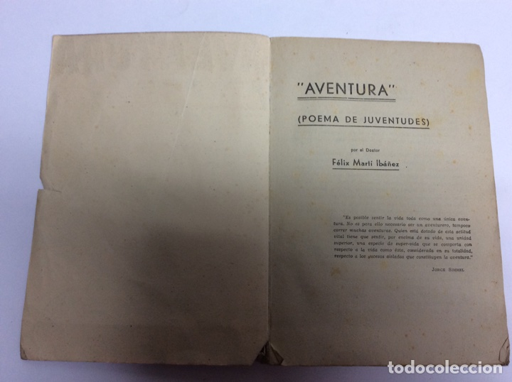 Libros de segunda mano: Aventura poema de juventudes / felix martin ibañez -ed. barcelona 1938 - Foto 3 - 62949998
