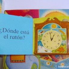 Libros de segunda mano: CAJA CON 4 MINILIBROS DE CARTÓN PRIMERAS PREGUNTAS EDELVIVES. ALISON JAY.. Lote 63279352
