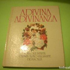 Libros de segunda mano: ADIVINA ADIVINANZA, EDITORIAL DIDASCALIA, 1.978. Lote 63328940
