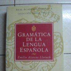 Libros de segunda mano: GRAMÁTICA DE LA LENGUA ESPAÑOLA, DE EMILIO ALARCOS LLORACH. ESPASA CALPE, 1995. Lote 63346600