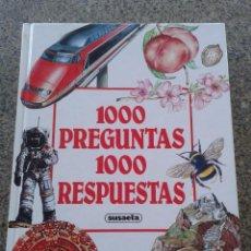 Libros de segunda mano: 1000 PREGUNTAS 1000 RESPUESTAS -- SUSAETA -- 1990 --. Lote 77096841