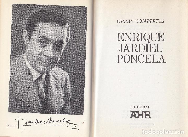 ENRIQUE JARDIEL PONCELA. OBRAS COMPLETAS. BARCELONA, 1973. (Libros de Segunda Mano (posteriores a 1936) - Literatura - Otros)