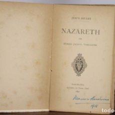 Libros de segunda mano: 4792- NAZARETH PER MOSSEN JACINTO VERDAGUER. JESUS INFANT. LIB. BASTINOS. 1890.. Lote 43801892