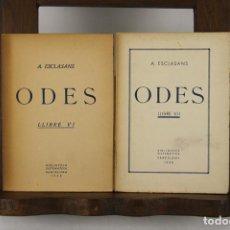 Libros de segunda mano: 4821- ODES. A. ESCLASANS. EDIT. BIBLIOTECA SISTEMATICA. 1938. LIBROS VI Y VII.. Lote 43875172