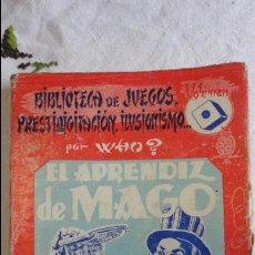 Libros de segunda mano: WHO.EL APRENDIZ DE MAGO.EDITORIAL SINTES.Nº 1. 2ªEDICION.1955. Lote 64362299