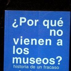 Libros de segunda mano: ¿POR QUÉ NO VIENEN A LOS MUSEOS ? HISTORIA DE UN FRACASO. Lote 64570939