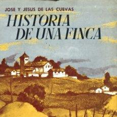 Libros de segunda mano: HISTORIA DE UNA FINCA. JOSÉ Y JESÚS DE LAS CUEVAS. Lote 168683792