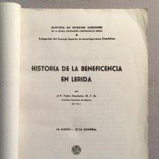 Libros de segunda mano: SANAHUJA: HISTORIA DE LA BENEFICENCIA EN LÉRIDA. (LLEIDA, 1944) ESTABLECIMIENTOS, LA ALMOINA, ETC.. Lote 64759279