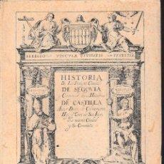 Libros de segunda mano: HISTORIA DE LA INSIGNE CIUDAD DE SEGOVIA Y COMPENDIO... II (DIEGO DE COLMENARES 1970) SIN USAR. Lote 64841307