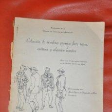 Libros de segunda mano: COLECCION DE NOMBRES PROPIOS FEOS , RAROS , EXÓTICOS Y ALGUNOS BONITOS , 1960 , VENEZUELA. Lote 65760230
