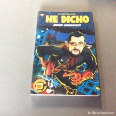 Libros de segunda mano: HE DICHO. LOS MONÓLOGOS DE ANTENA 3. / ANDREU BUENAFUENTE. CONTIENE DVD.. Lote 65772574